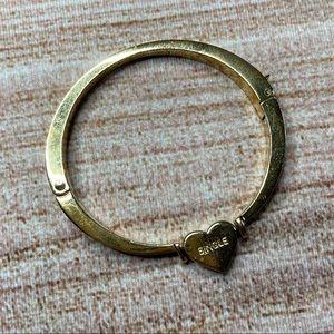 "Kate Spade ""Dear Valentine"" Gold Heart Bracelet"